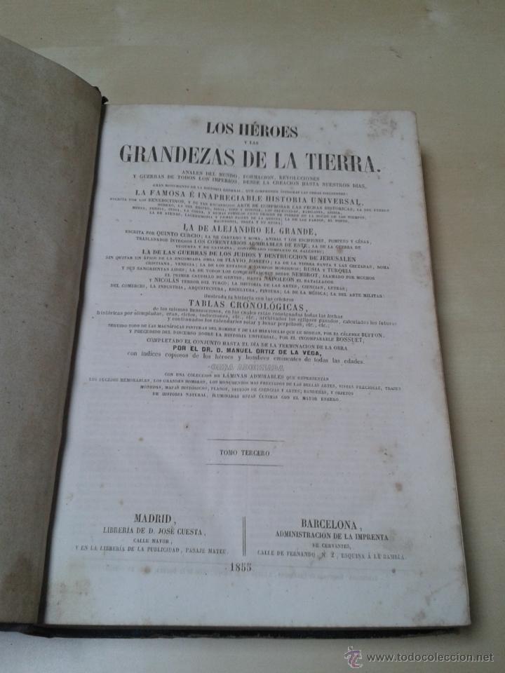 Libros antiguos: LOS HÉROES Y LAS GRANDEZAS DE LA TIERRA, 8 TOMOS. AÑO 1854 - Foto 40 - 45573799