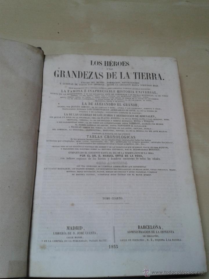 Libros antiguos: LOS HÉROES Y LAS GRANDEZAS DE LA TIERRA, 8 TOMOS. AÑO 1854 - Foto 54 - 45573799