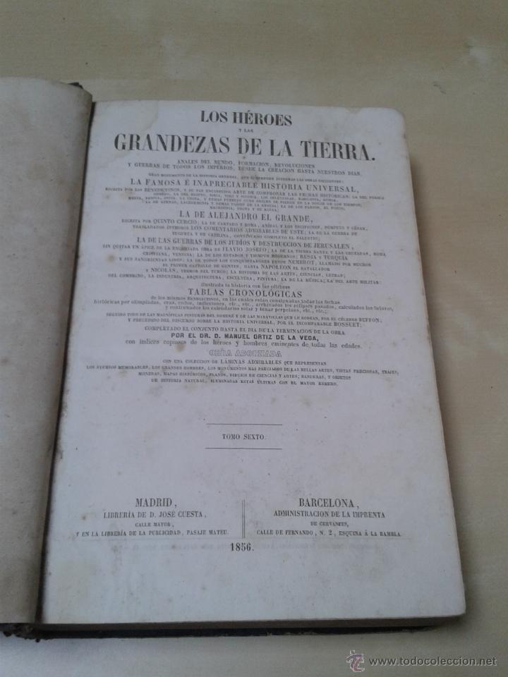 Libros antiguos: LOS HÉROES Y LAS GRANDEZAS DE LA TIERRA, 8 TOMOS. AÑO 1854 - Foto 83 - 45573799