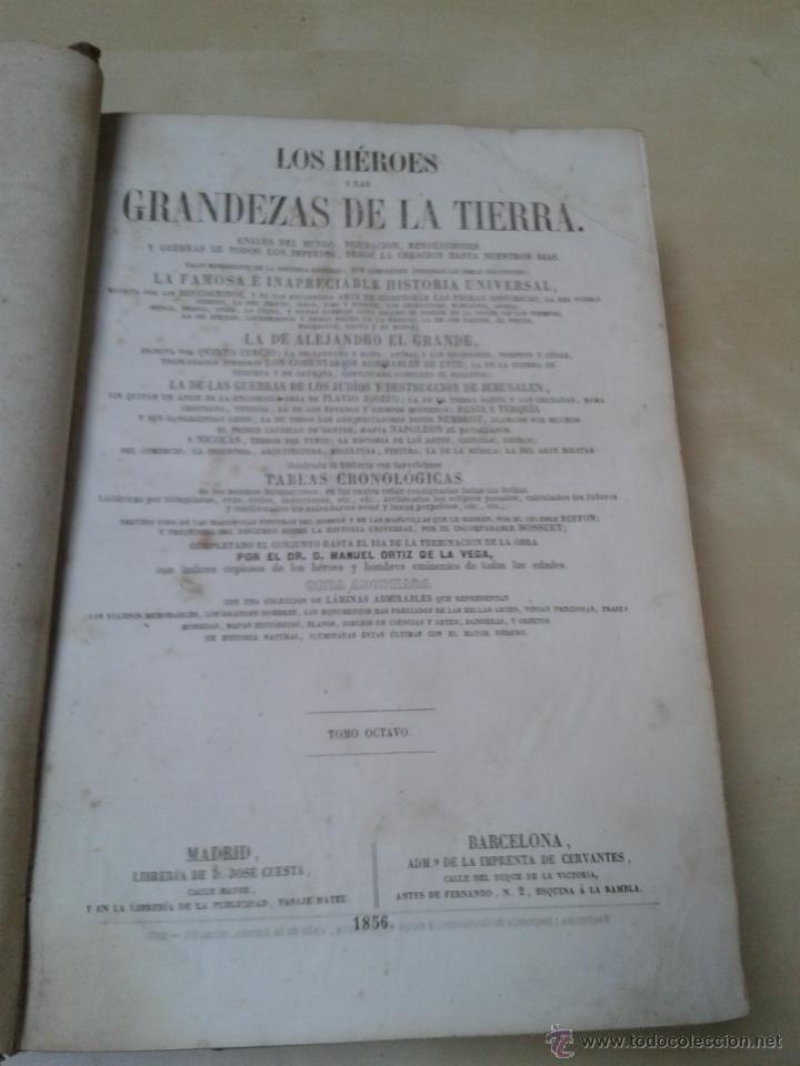 Libros antiguos: LOS HÉROES Y LAS GRANDEZAS DE LA TIERRA, 8 TOMOS. AÑO 1854 - Foto 110 - 45573799