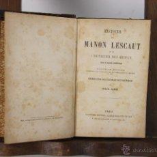 Libros antiguos: 5373 - HISTOIRE DE MANON LESCAUT. JULES JANIN. EDIT. GARNIER. SIN FECHA.. Lote 45604877