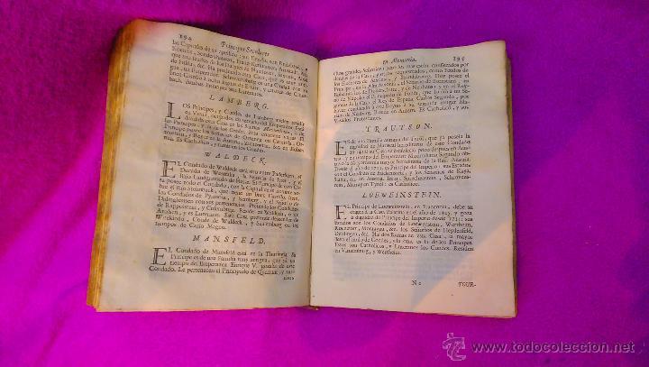 Libros antiguos: COMPENDIO HISTORICO GEOGRAFICO, Y GENEALOGICO DE LOS SOBERANOS DE EUROPA, D. MANUEL TRINCADO 1766 - Foto 4 - 45651145
