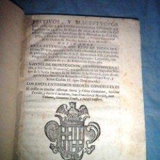 Libros antiguos: FESTIVOS Y MAGESTUOSOS CULTOS - AÑO 1686 - BARCELONA - MUY RARO.. Lote 45800754