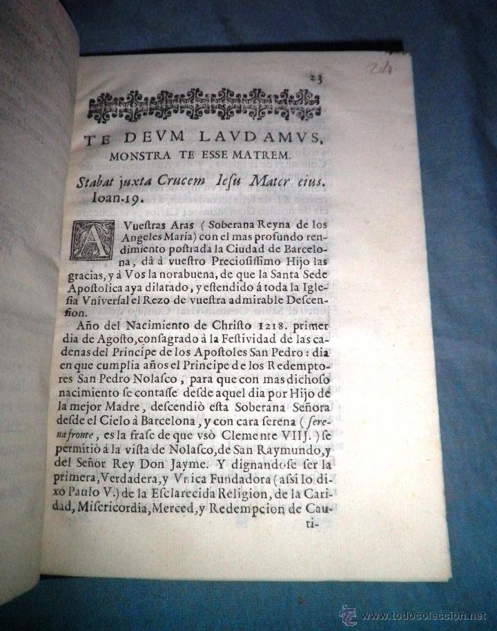 Libros antiguos: FESTIVOS Y MAGESTUOSOS CULTOS - AÑO 1686 - BARCELONA - MUY RARO. - Foto 4 - 45800754