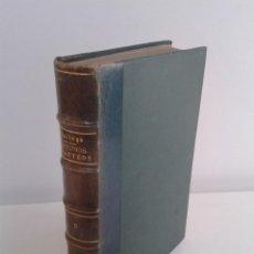 Libros antiguos: ESTUDIOS Y TANTEOS, SALTOS DE AGUA, ABASTECIMIENTO Y ALUMBRAMIENTO DE AGUAS.TOMO II.EDUARDO GALLLEGO. Lote 45810057