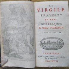Libros antiguos: LE VIRGILE TRAVESTY, SCARRON.1695. CINCO GRABADOS.. Lote 45930572