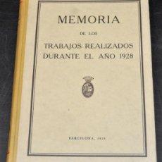 Libros antiguos: CONSORCIO DEL PUERTO FRANCO DE BARCELONA. MEMORIA DE LOS TRABAJOS REALIZADOS DURANTE EL AÑO 1928. Lote 45940343