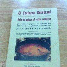 Libros antiguos: EL COCINERO UNIVERSAL. Lote 45965220