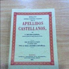 Libros antiguos: APELLIDOS CASTELLANOS . Lote 45965347