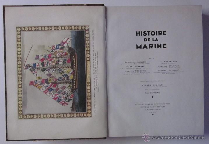 Libros antiguos: HISTOIRE DE LA MARINE - Foto 2 - 45973303