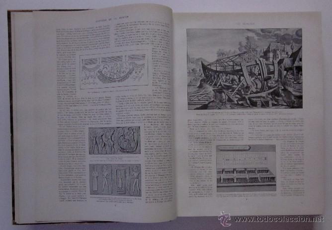 Libros antiguos: HISTOIRE DE LA MARINE - Foto 3 - 45973303