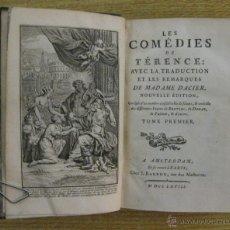 Libros antiguos: LES COMEDIES DE TERENCE.3 TOMO,1768. CONTIENE 49 GRABADOS. Lote 45973785