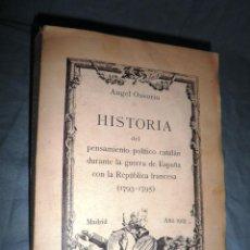Libros antiguos: HISTORIA DEL PENSAMIENTO POLITICO CATALAN - AÑO 1913 - A.OSSORIO - ILUSTRADO.. Lote 46025890