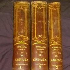Libros antiguos: HISTORIA GENERAL DE ESPAÑA, LA COMPUESTA, ENMENDADA Y AÑADIDA POR EL PADRE MARIANA, 1852. Lote 46028066