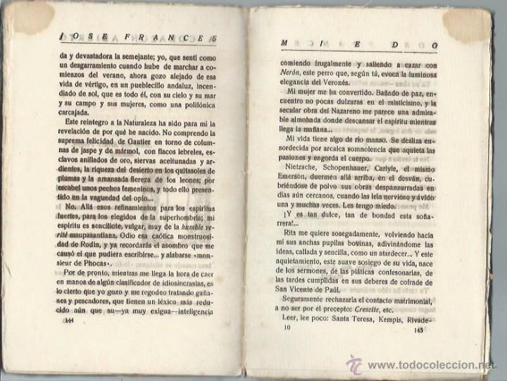 Libros antiguos: MIEDO, JOSÉ FRANCÉS, MUNDO LATINO 1922, CON DEDICATORIA Y FIRMA DEL AUTOR, RÚSTICA, 14 POR 19CM - Foto 2 - 54194494