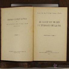Libros antiguos: 5584- JOSEP TORRAS I BAGES. OBRES COMPLETES. EDIT. IBERICA. 1913/1916. 8 VOL. . Lote 46071254