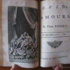 Libros antiguos: OVIDS, EPISTLES:WITH AMOURS.1725. CON 12 BELLOS GRABADOS.. Lote 46109793