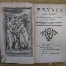 Libros antiguos: OEUVRES DE ALEXIS PIRON.1758. ILUSTRADO. Lote 46110979