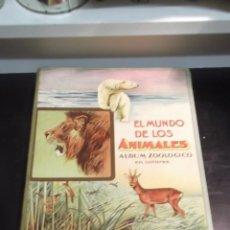 Libros antiguos: EL MUNDO DE LOS ANIMALES ALBUM ZOOLOGICO CON 27 CROMOLITOGRAFIAS EDITORIAL ARALUCE. Lote 46125942