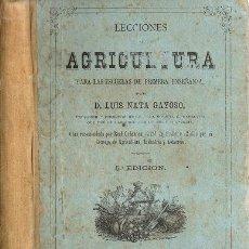 Libros antiguos: LECCIONES DE AGRICULTURA – AÑO 1874. Lote 46145195