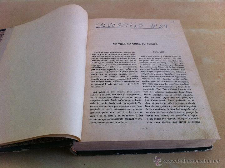 Libros antiguos: CALVO SOTELO, MEDICINA EN EL TRABAJO, EL CANTE ANDALUZ, LAS REALES ACADEMIAS Y MÁS. VER FOTOGRAFÍAS. - Foto 7 - 46249993