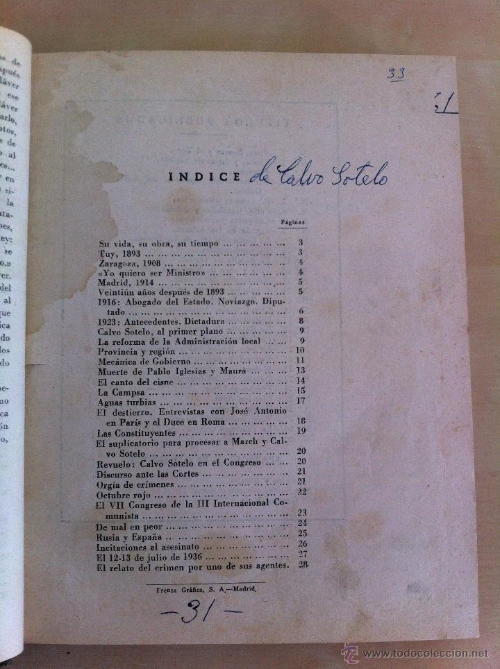 Libros antiguos: CALVO SOTELO, MEDICINA EN EL TRABAJO, EL CANTE ANDALUZ, LAS REALES ACADEMIAS Y MÁS. VER FOTOGRAFÍAS. - Foto 11 - 46249993