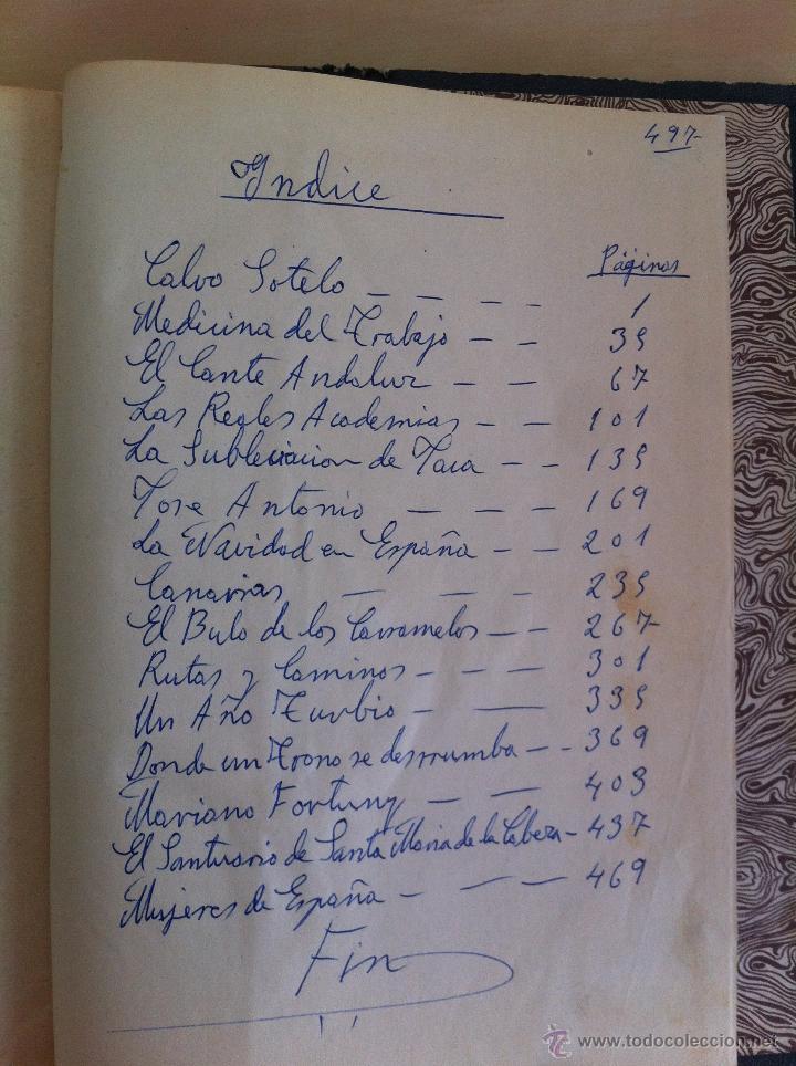 Libros antiguos: CALVO SOTELO, MEDICINA EN EL TRABAJO, EL CANTE ANDALUZ, LAS REALES ACADEMIAS Y MÁS. VER FOTOGRAFÍAS. - Foto 34 - 46249993