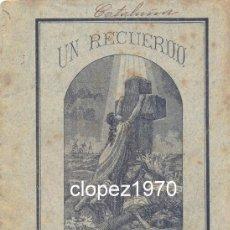 Libri antichi: UN RECUERDO A LOS NAUFRAGOS DEL VAPOR GIJON, HABANA,1884, 12 PAGINAS, RARISIMO. Lote 46478726