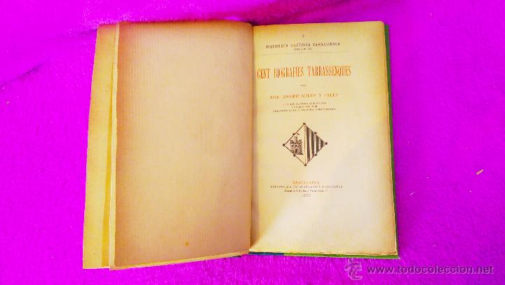 Libros antiguos: TERRASSA, BIBLIOTECA HISTORICA TERRASSENCA, D. JOSEPH SOLER I PALET, IV VOLUMS, 1893, 1900 - Foto 3 - 46482038