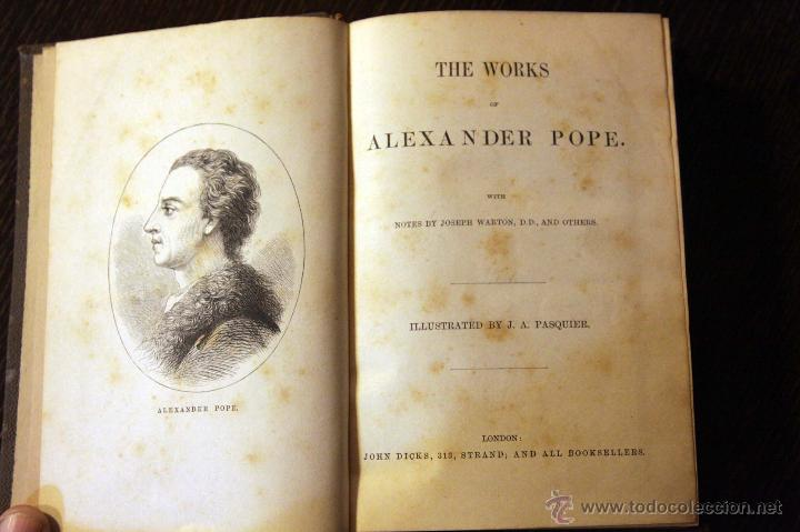 Libros antiguos: THE WORKS OF ALEXANDER POPE. ILLUSTRATED BY J.A. PASQUIER. LONDON, - Foto 5 - 46489544