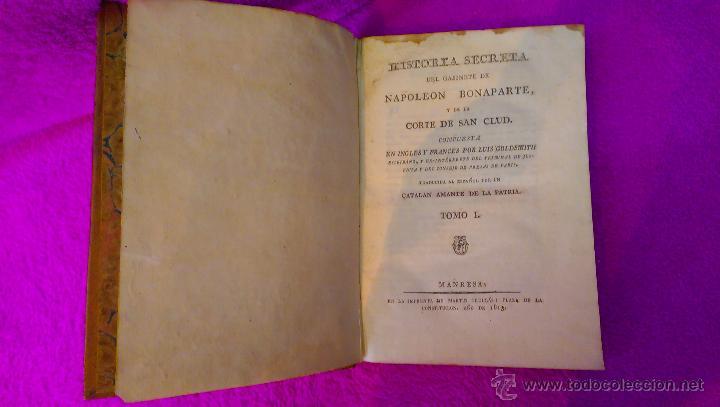 Libros antiguos: HISTORIA SECRETA DEL GABINETE DE NAPOLEON BONAPARTE, JOSE MATARO, LUIS GOLDSMITH 1813 - Foto 2 - 46495419
