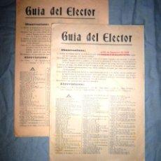 Libros antiguos: GUIA DEL ELECTOR - BARCELONA AÑO 1905 - VOTACIONES AÑO 1905 - MUY RAROS.. Lote 46563709