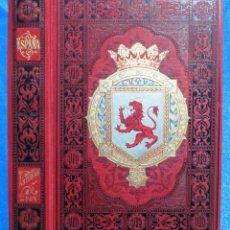 Libros antiguos: TAPAS DEL LIBRO ASTURIAS Y LEÓN DE JOSE Mª QUADRADO. EDITADO POR DANIEL CORTEZO EN 1885.. Lote 46739880