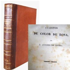Libros antiguos: CUENTOS DE COLOR DE ROSA. DE TRUEBA, ANTONIO. 1864. Lote 46768958