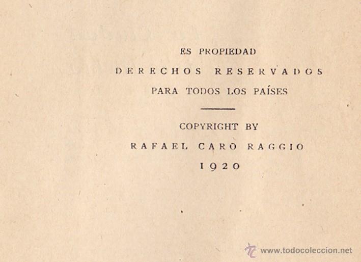 Libros antiguos: PÍO BAROJA LA CIUDAD DE LA NIEBLA RAFAEL CARO RAGGIO EDITOR MADRID 1920 * RARO EJEMPLAR* - Foto 3 - 46784120