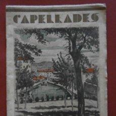 Libros antiguos: CAPELLADES. FESTA MAJOR 1934. Lote 46895557