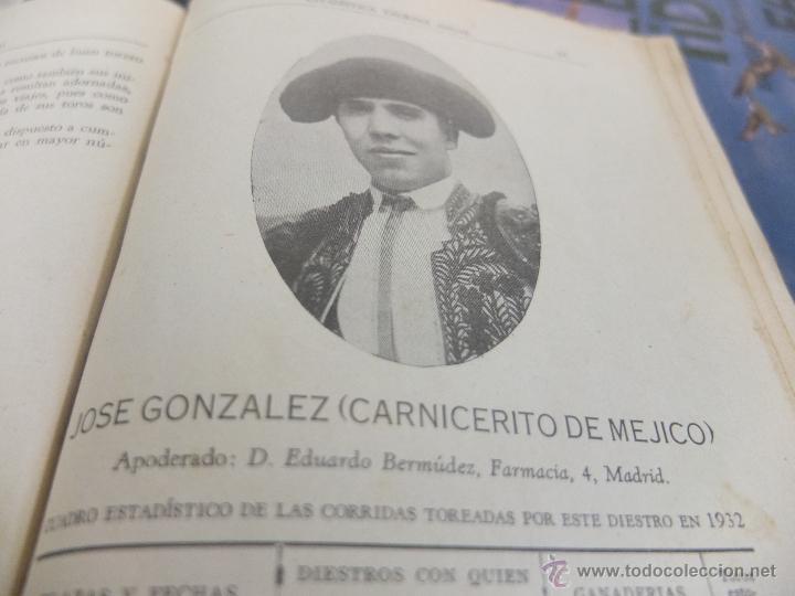CURIOSO LIBRO INFORMATIVO DE LAS CORRIDAS DE TOROS DE MADRID ,TETUAN VISTA ALEGRE,EXTRANJERO-1932 (Libros Antiguos, Raros y Curiosos - Bellas artes, ocio y coleccionismo - Otros)
