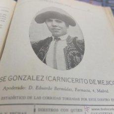Libros antiguos: CURIOSO LIBRO INFORMATIVO DE LAS CORRIDAS DE TOROS DE MADRID ,TETUAN VISTA ALEGRE,EXTRANJERO-1932. Lote 46896288