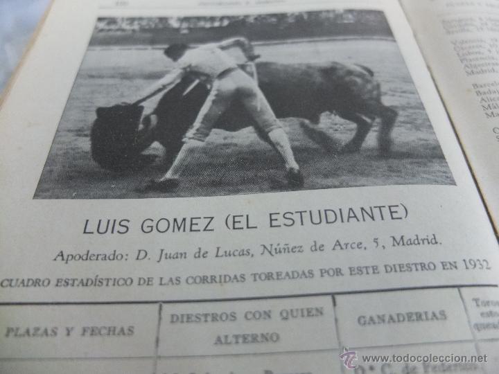 Libros antiguos: CURIOSO LIBRO INFORMATIVO DE LAS CORRIDAS DE TOROS DE MADRID ,TETUAN VISTA ALEGRE,EXTRANJERO-1932 - Foto 4 - 46896288