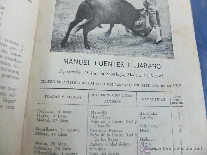 Libros antiguos: CURIOSO LIBRO INFORMATIVO DE LAS CORRIDAS DE TOROS DE MADRID ,TETUAN VISTA ALEGRE,EXTRANJERO-1932 - Foto 5 - 46896288