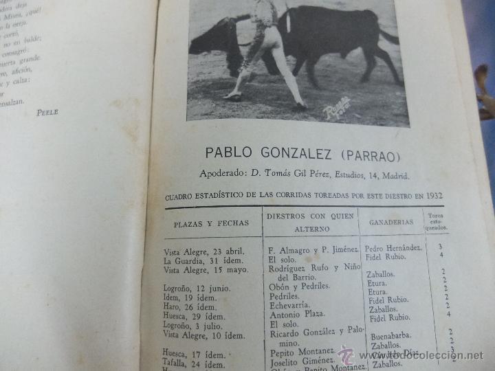 Libros antiguos: CURIOSO LIBRO INFORMATIVO DE LAS CORRIDAS DE TOROS DE MADRID ,TETUAN VISTA ALEGRE,EXTRANJERO-1932 - Foto 10 - 46896288