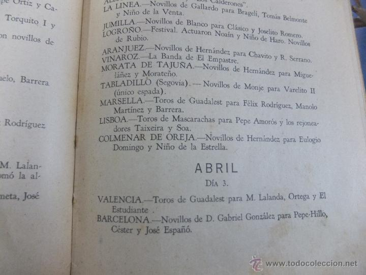 Libros antiguos: CURIOSO LIBRO INFORMATIVO DE LAS CORRIDAS DE TOROS DE MADRID ,TETUAN VISTA ALEGRE,EXTRANJERO-1932 - Foto 12 - 46896288