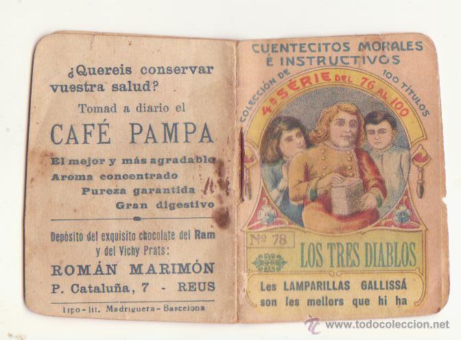 CUENTECITOS MORALES E INSTRUCTIVOS Nº 78 AÑOS 20 CHOCOLATE RAM VICHY PRATS CAFE PAMPA MARIMON REUS (Libros Antiguos, Raros y Curiosos - Literatura Infantil y Juvenil - Otros)