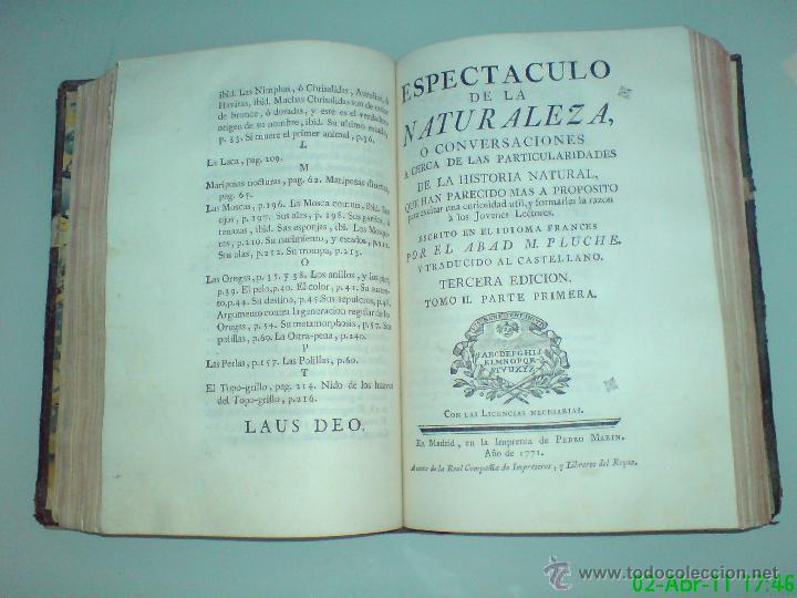 Libros antiguos: PLUCHE, Abad M. - ESPECTÁCULO DE LA NATURALEZA - 16 tomos, 204 láminas (completo) - Foto 2 - 46929248