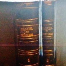 Libros antiguos: MANUEL DU TEINTURIER-MANUAL DE LA TINTURA-SIGLO XIX,DOS VOLUMENES. Lote 46947630