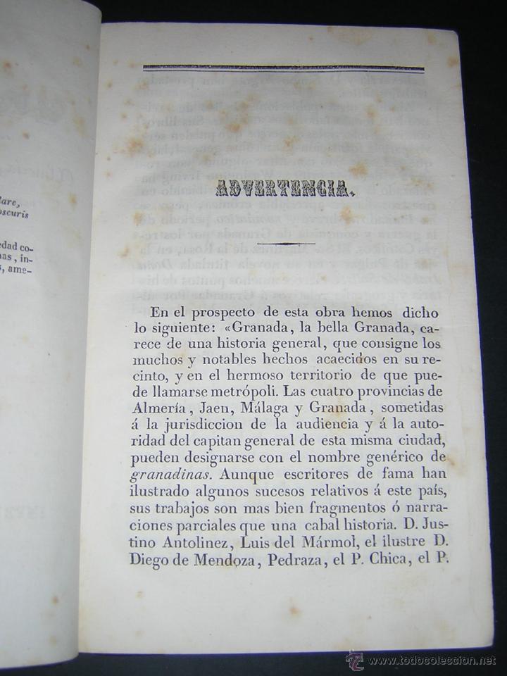 Libros antiguos: 1843 - LAFUENTE ALCANTARA - HISTORIA DE GRANADA TOMO I - Foto 3 - 46987845