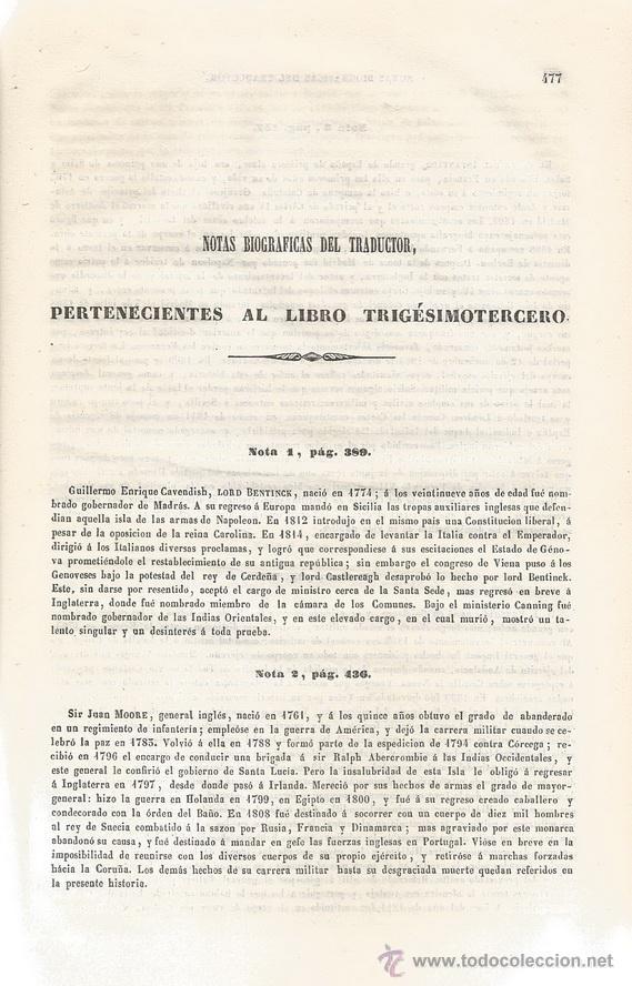 Libros antiguos: M. A. THIERS. Historia del Consulado y del Imperio. Tomo IV. RM67682. - Foto 3 - 47023797