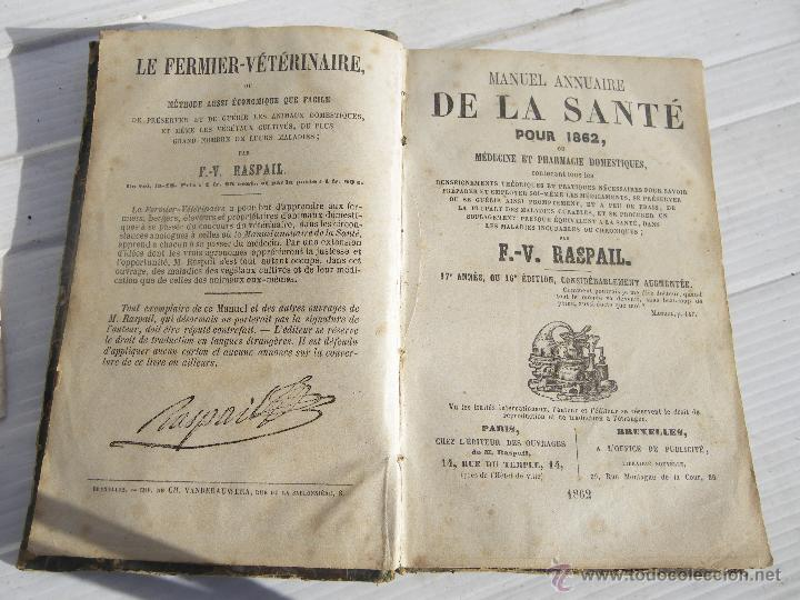 Antiguo libro siglo xix 1862 de medicina fa comprar - Libros antiguos valor ...