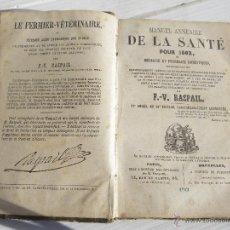 Libros antiguos: ANTIGUO LIBRO SIGLO XIX ( 1862 ) DE MEDICINA FARMACIA NATURAL , EN FRANCES .. VERR. Lote 47064695