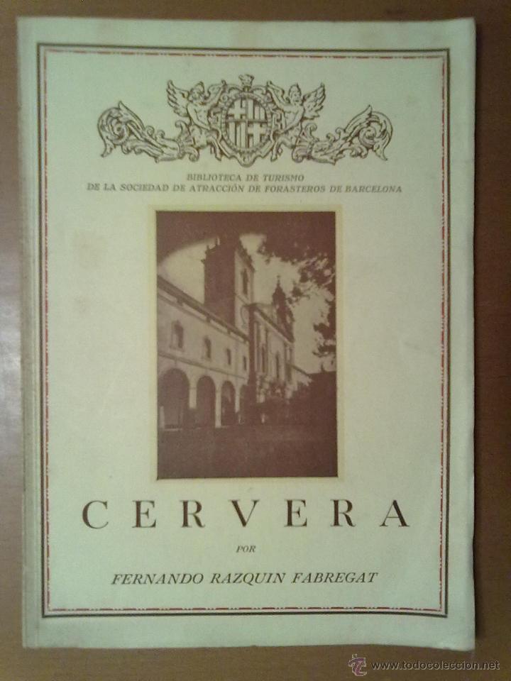 CERVERA FERNANDO RAZQUIN FABREGAT 1935 17,5 X 24,5 CM (APROX) 40 PAGINAS (Libros Antiguos, Raros y Curiosos - Bellas artes, ocio y coleccionismo - Otros)